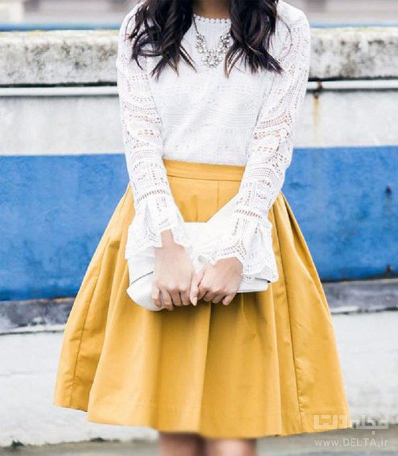 ست رنگ زرد و سفید