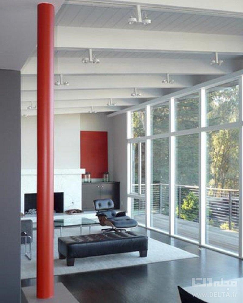 طراحی ستون وسط خانه