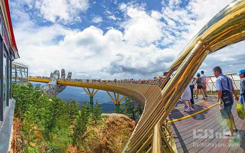 معماری پل تماشای دیدنیهای پل طلایی ویتنام