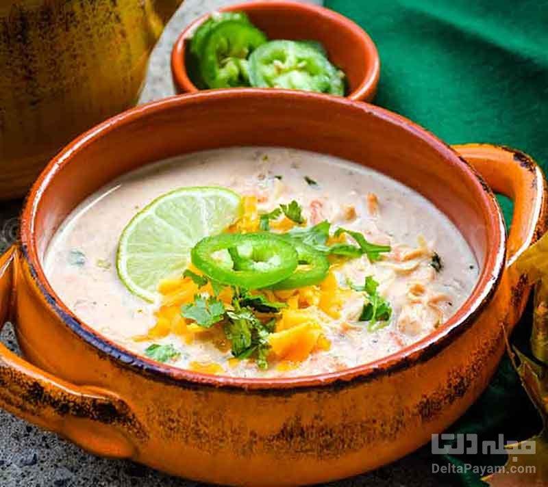 سوپ-رستورانی-جو-با-خامه-و-مرغ