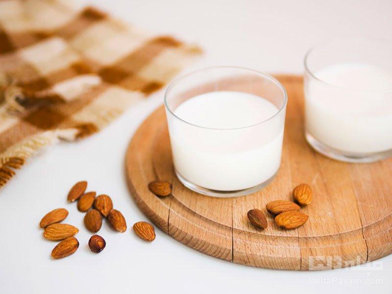 فواید شیر بادام