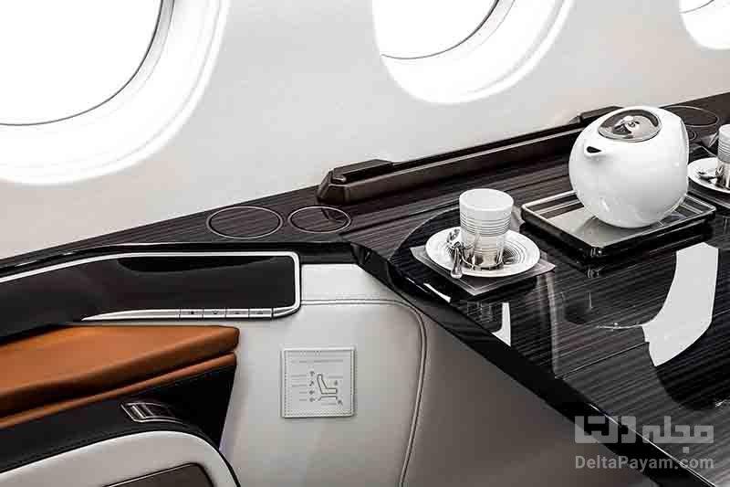 کابین چشمنواز هواپیمای فالکون ۶X