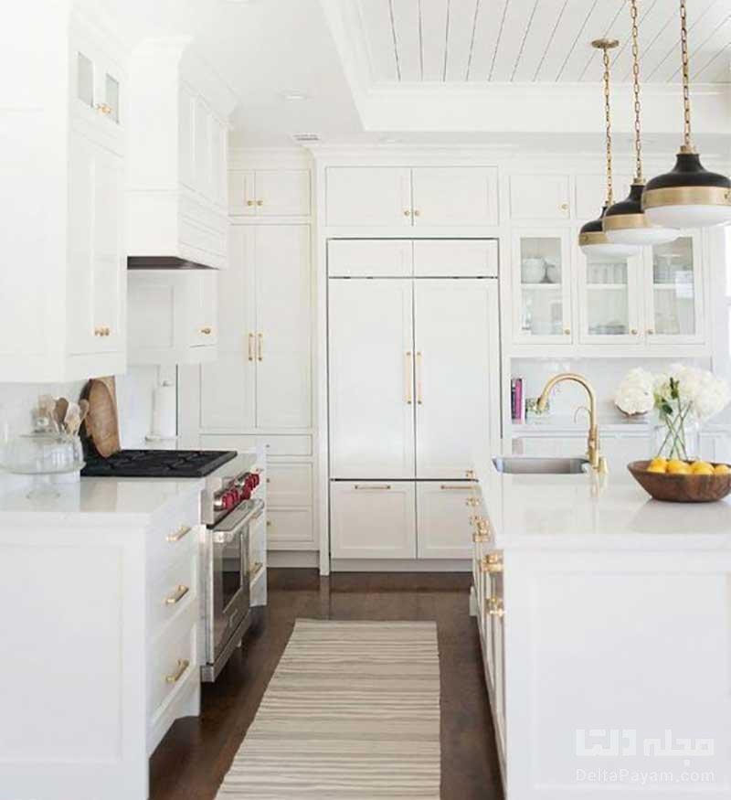 آشپزخانه به رنگ سفید