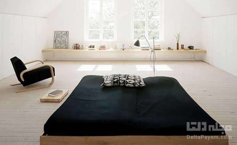 اتاق خواب بدون تخت