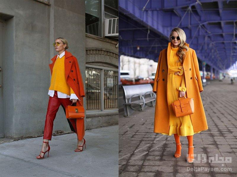 استایلی با رنگ نارنجی و زرد