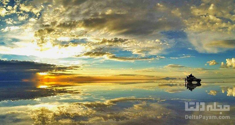 بزرگترین آینه جهان، دریاچه نمک بولیوی