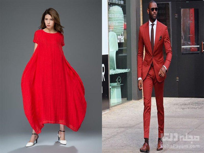 تاثیر لباس قرمز