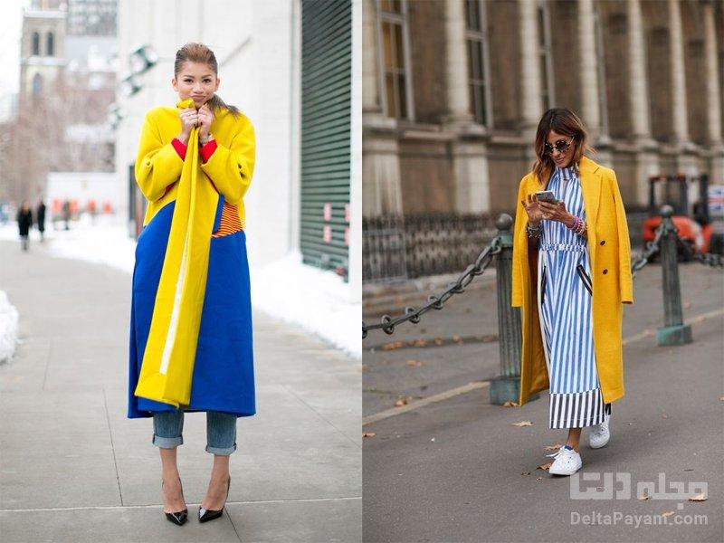 ترکیب رنگ آبی زرد
