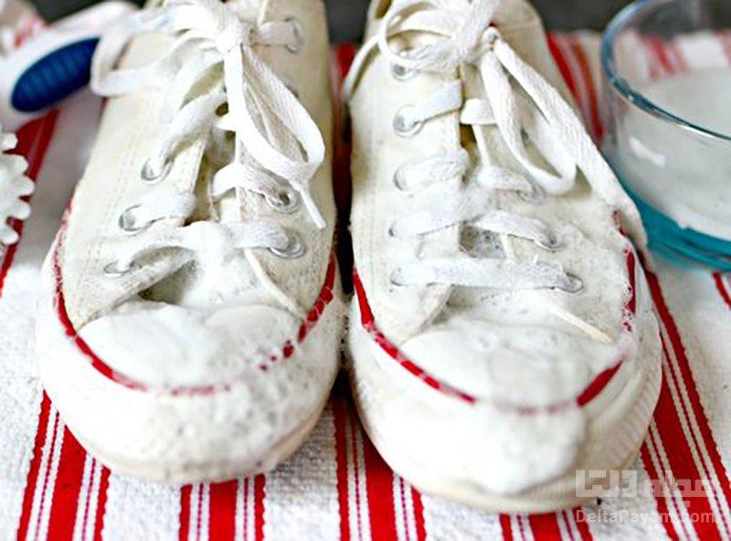 تمیز کردن کفش سفید روزمره