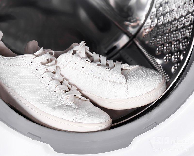 تمیز کردن کفش سفید ماشین لباسشویی