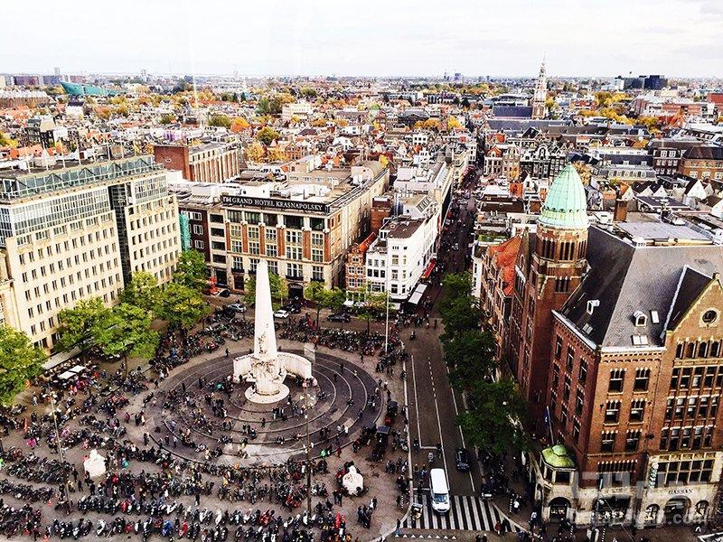 جاذبه های آمستردام میدان دام آمستردام