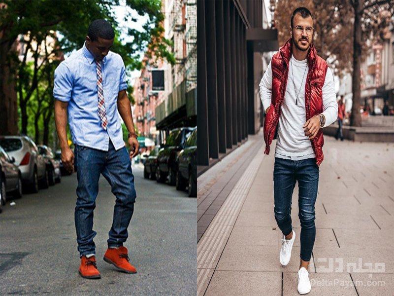 رنگ کفش در لباس آقایان