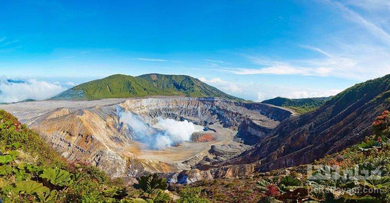 سفر به کاستاریکا پارک ملی آتشفشان Poás