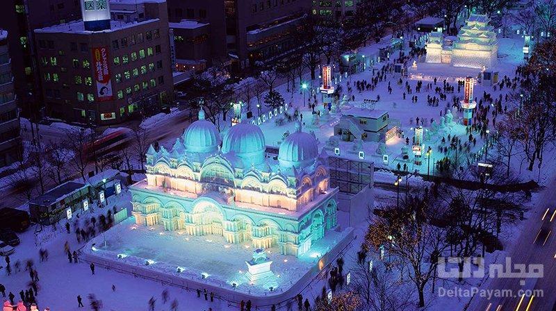 فستیوال های ژاپن فستیوال برف و یخ در ساپورو ژاپن