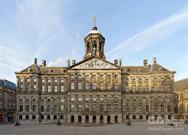 قصر سلطنتی آمستردام جاذبه های آمستردام