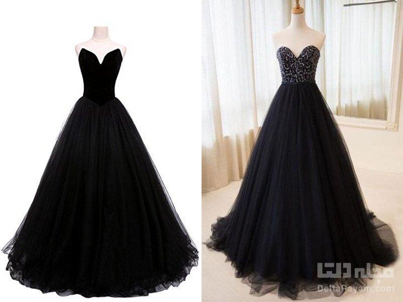 لباس شب مشکی بلند