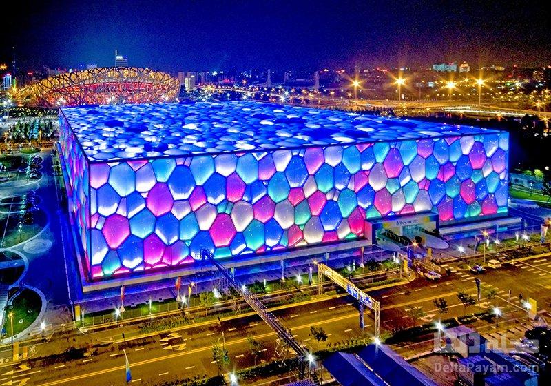 مکعب آبی، چین پارک های آبی