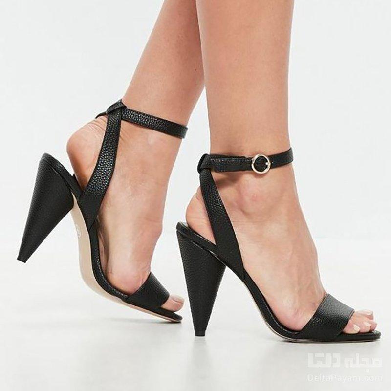 کفش پاشنه بلند مناسب مخروطی