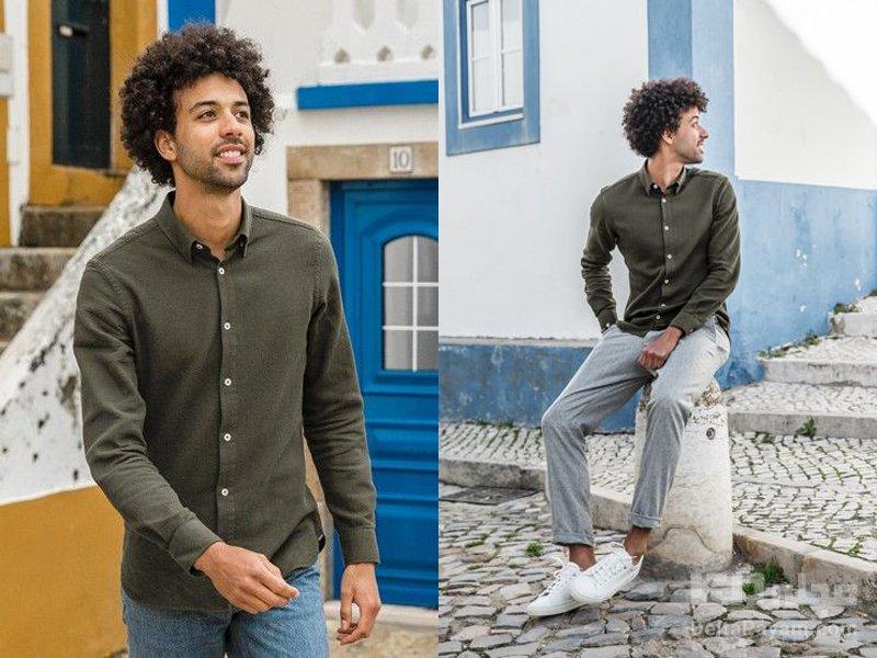 پیراهن سبز صدری