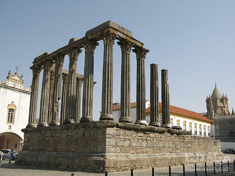 گردش در پرتغال معبد رومی دیانا
