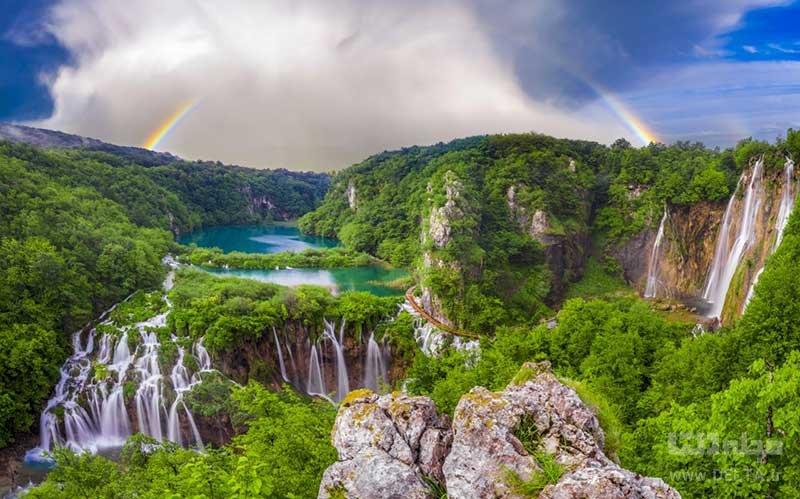 دریاچههای پلیتویس (The Plitvice Lakes) در کرواسی از مکان های عجیب در دنیا