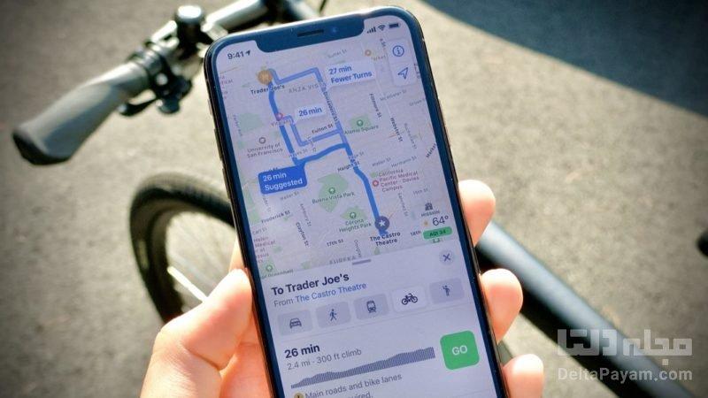 مسیریابی دوچرخه سواران با گوگلمپ