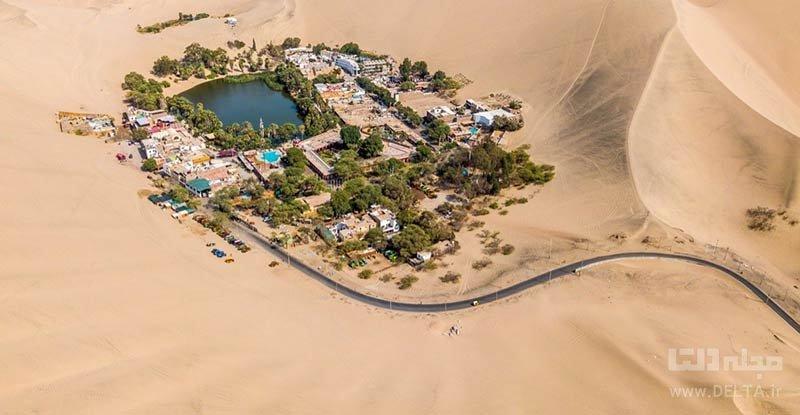 Oasis Surrounded by Dunes در پرو از مکان های عجیب دنیا