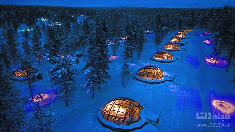 هتل Kakslauttanen در فنلاند از مکان های عجیب دنیا