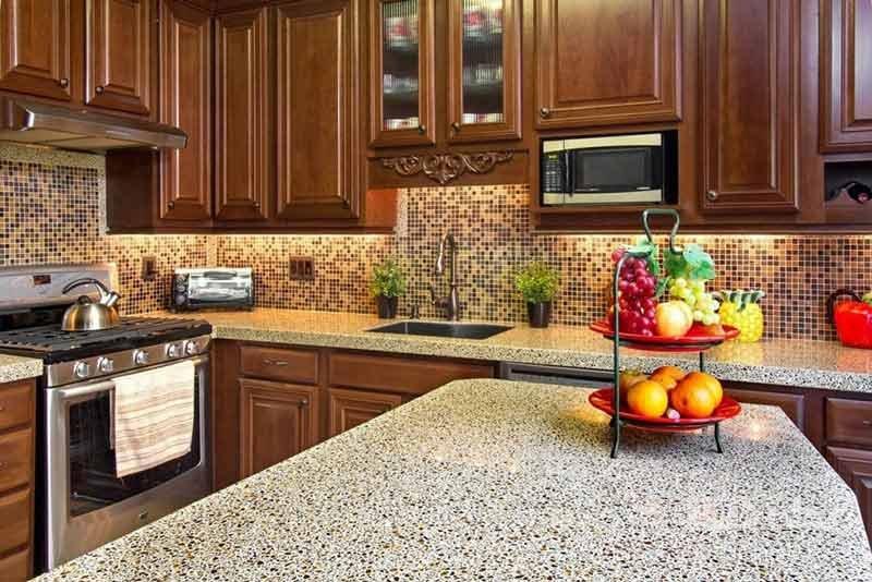 تزیین اپن آشپزخانه با میوه های تازه