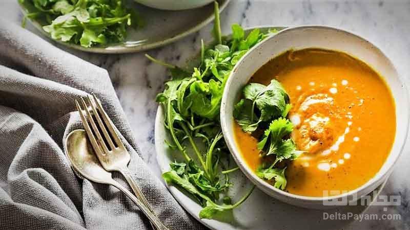 سوپ هویج سریع و ساده و مقوی