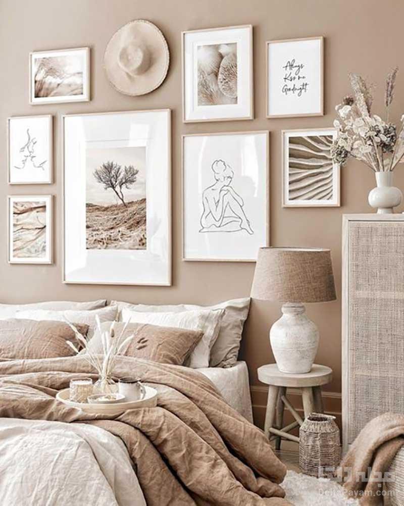 رنگ بژ در اتاقخواب