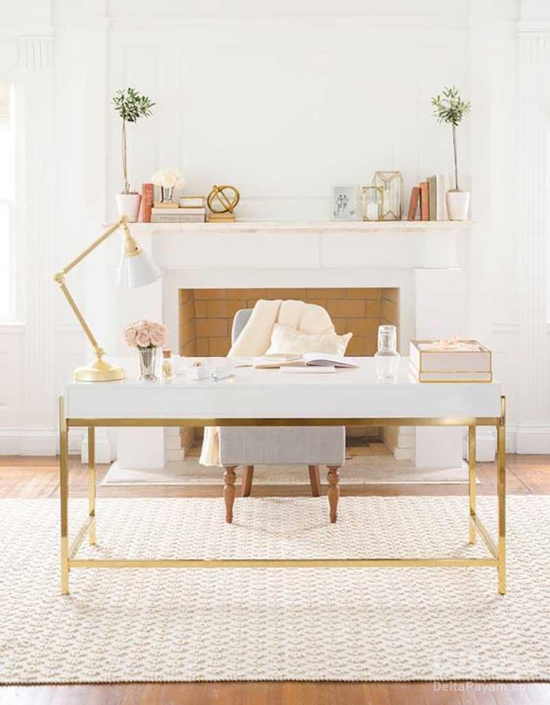 ترکیب سفید و طلایی در دکوراسیون