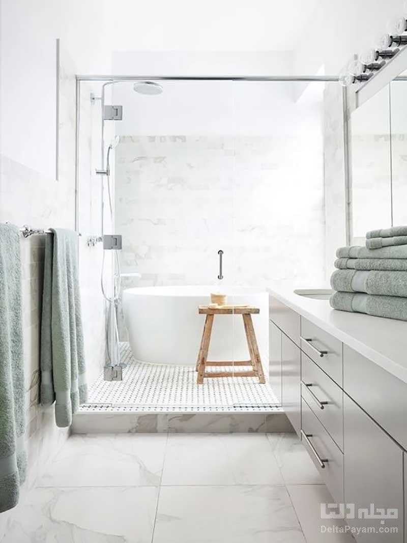 کفپوش حمام مرمری