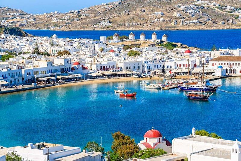 گردش در يونان ميكونوس