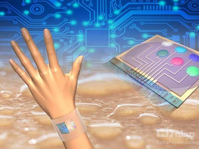 چاپ حسگرهای پوشیدنی روی بدن انسان