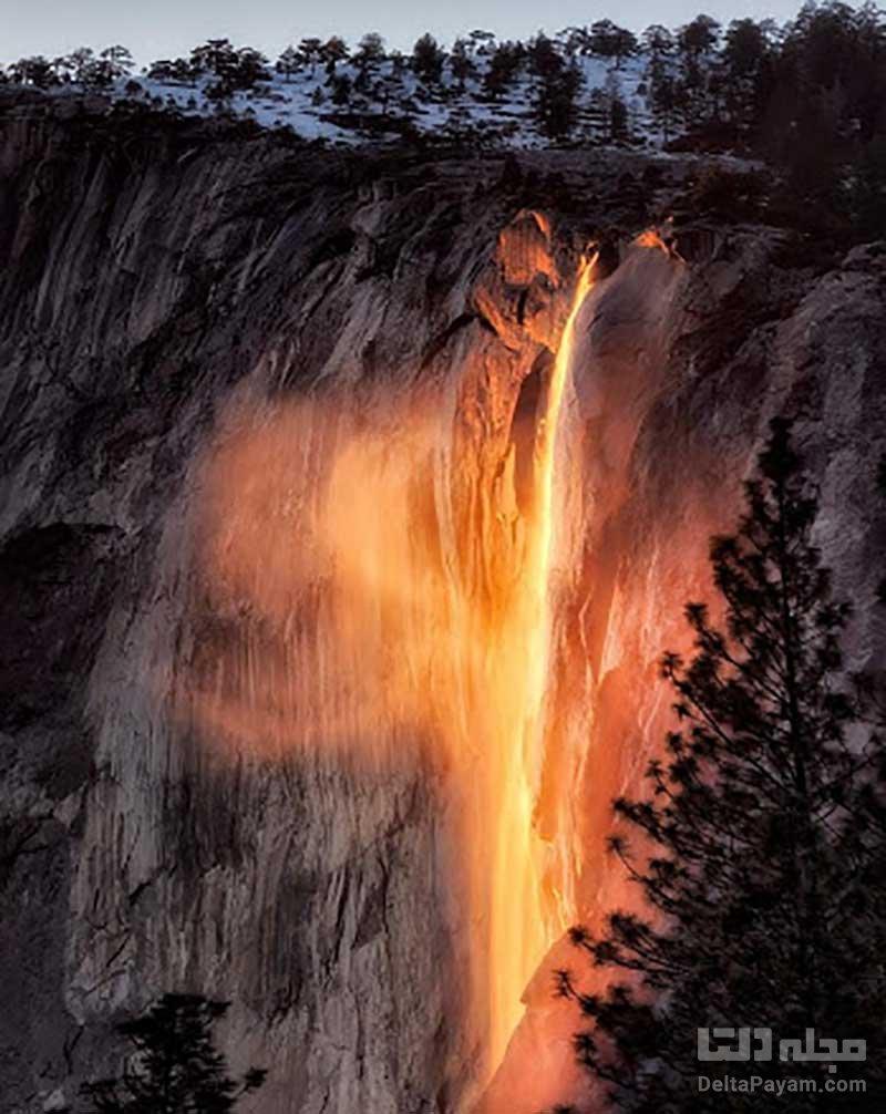 آبشار آتش یوسمیت