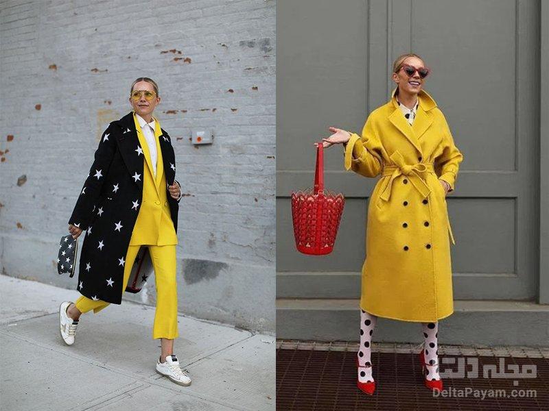 زرد را با چه لباسی ست کنیم مشکی