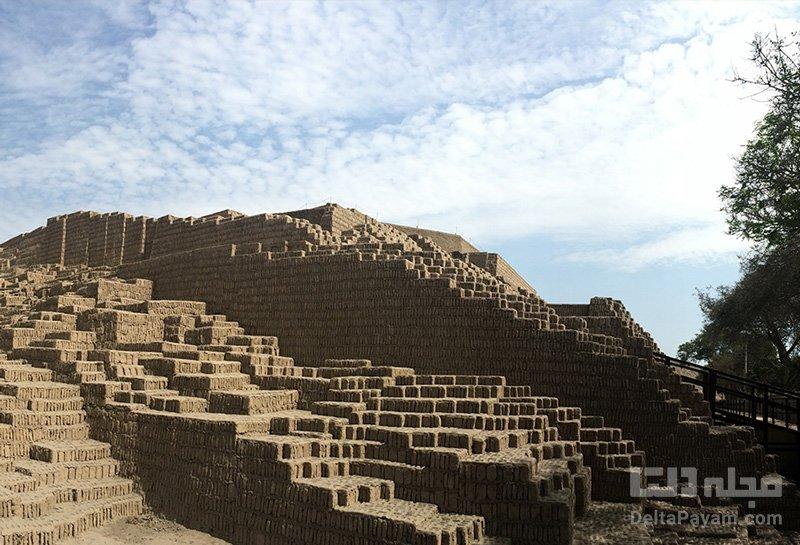 زیگورات تاریخی وسط شهر مدرن لیما