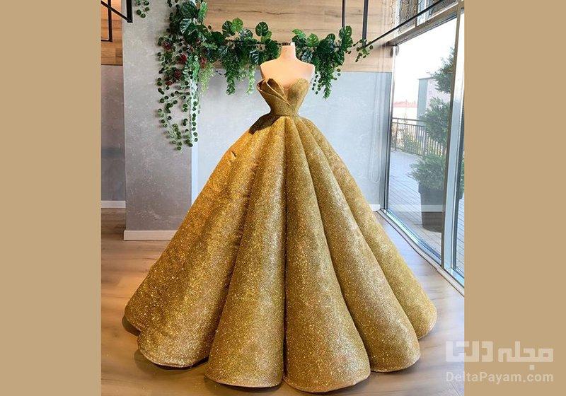 لباس مجلسی بلند رنگ