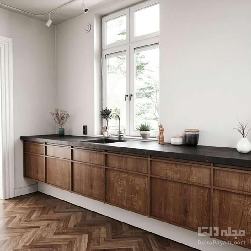 آشپزخانه طرح چوب