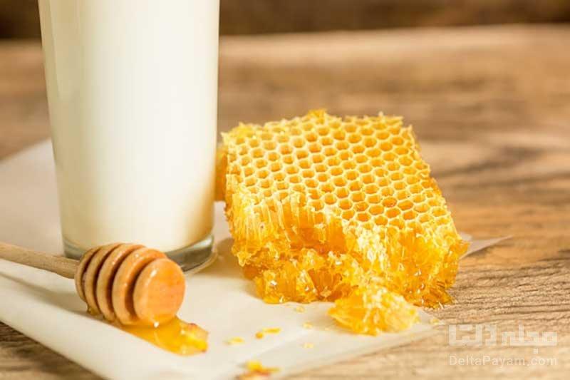 خواص عسل و شیر