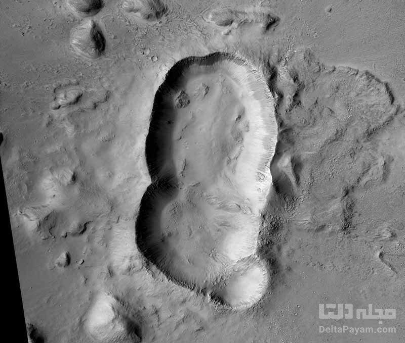 کشف دهانه سه گانه جدید در مریخ