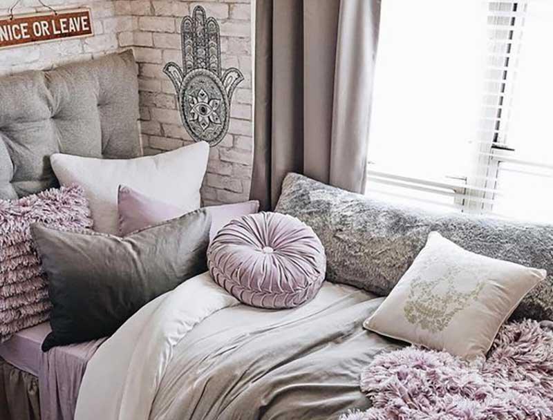 دکوراسیون بنفش اتاق خواب