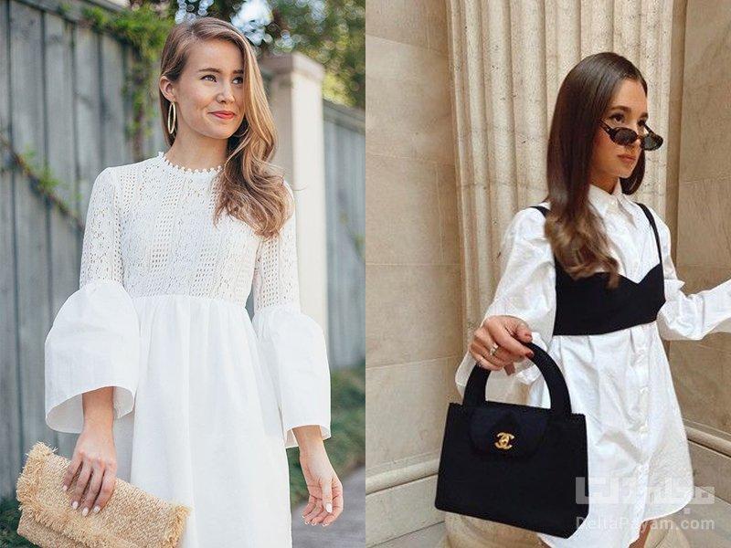 آرایش مناسب لباس سفید رژ