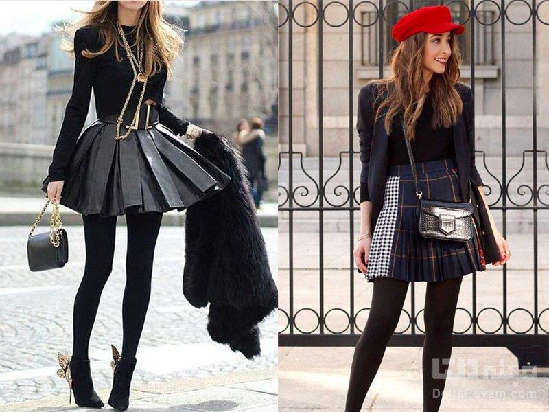 انتخاب لباس پیلی دار کوتاه