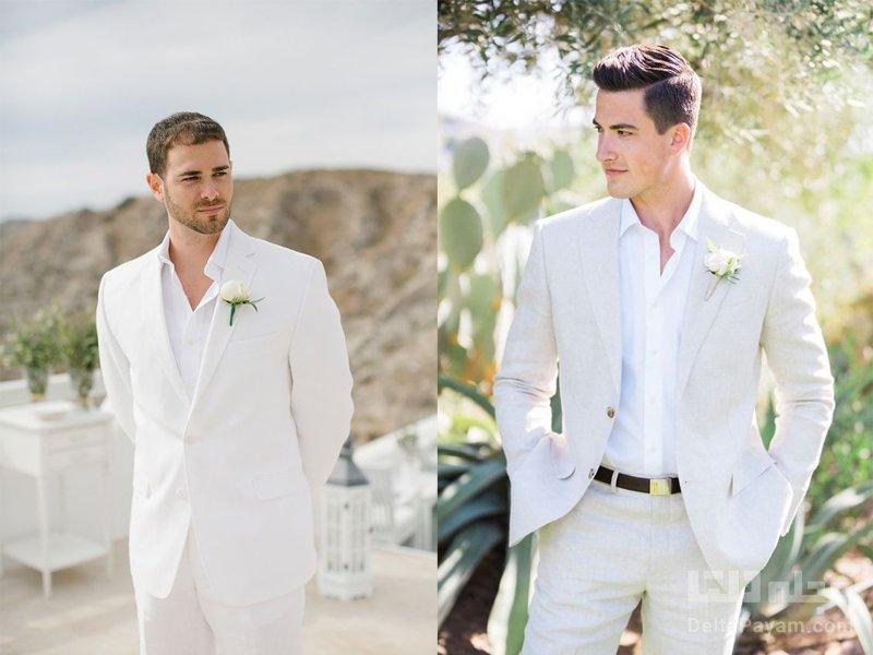 انتخاب کت و شلوار دامادی سفید