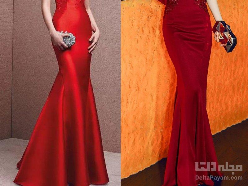 اکسسوری برای لباس شب قرمز کیف
