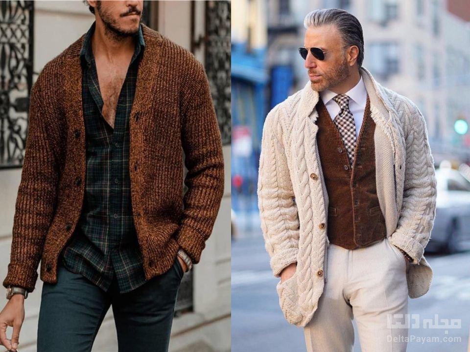 بافتنی مردانه را چگونه بپوشیم ژاکت