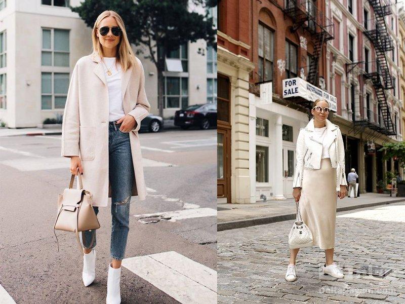 رنگ لباس برای خانم های مو بلوند سفید