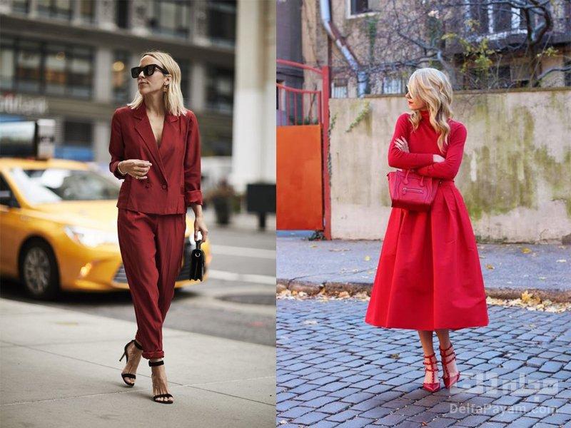 رنگ لباس برای خانم های مو بلوند قرمز